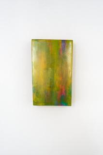 O.T., Öl auf Blattgold auf Holz, 15,6 x 9,7 cm, 2015