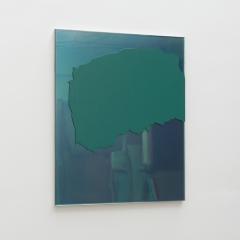 BGRÜ-HGS3 (220110) 2010; Öl, Lack, Glasspiegel, MDF, 50 x 40 cm