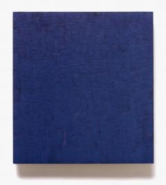 blaublau auf dunkelgrün, 417/2002 august – september 2002, 53 x 47 cm, eitempera + ölfarbe auf holz