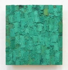 kaltgrün, märz – april 2008, 25,5 x 23,5 cm, ölfarbe auf holz