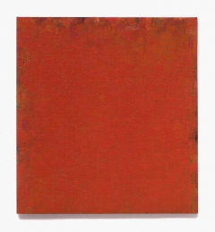 rotorange - orangerot februar - mai 2011, 60 x 55 cm, ölfarbe auf leinen auf holz