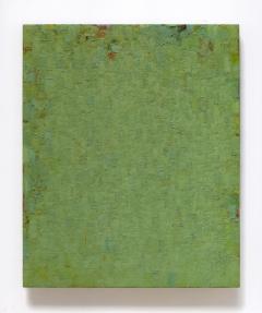 grün rot grau gelb grün, november 2003 – mai 2011, 74,5 x 61 cm, eitempera + ölfarbe auf leinen auf holz
